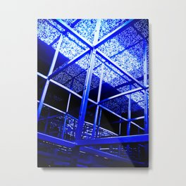 Blue Structure Metal Print