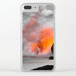 Lava Meets Ocean Clear iPhone Case