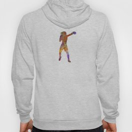 woman boxer boxing kickboxing silhouette isolated 03 Hoody