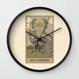 Ace of Spades Wall Clock