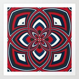Spiral Rose Pattern B 1/4 Art Print