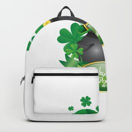 St Patrick S Day Design Pot Full Gold Coins Backpack