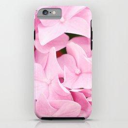 Pink Hydrangea Flowers iPhone Case