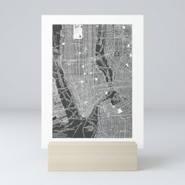 New York City Vintage Map Mini Art Print