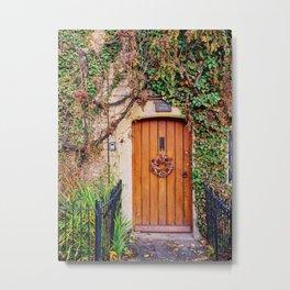 Country Wood Door in the Cotswolds England Metal Print