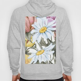 Summer Floral Watercolour Bouquet Hoody
