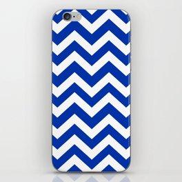 UA blue - blue color -  Zigzag Chevron Pattern iPhone Skin