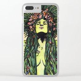 Green Goddess Clear iPhone Case