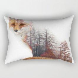 Misty Fox Rectangular Pillow