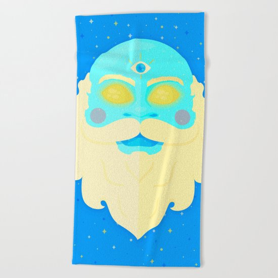Santa Cosmos Beach Towel