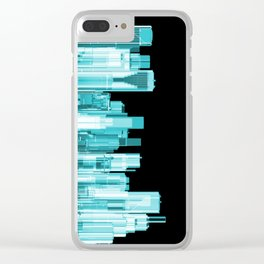 Hologram city panorama Clear iPhone Case