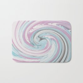 pink and blue rounds Bath Mat