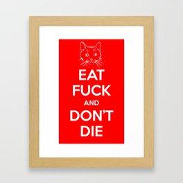 Cat's Motto Framed Art Print