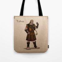 valar morghulis Tote Bags featuring Tulkas by wolfanita