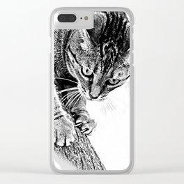 Sharpen their claws Clear iPhone Case