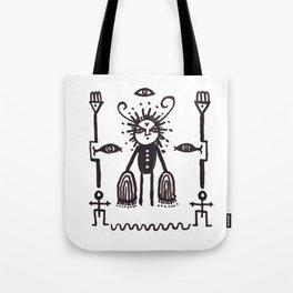Grumpy Totem Tote Bag