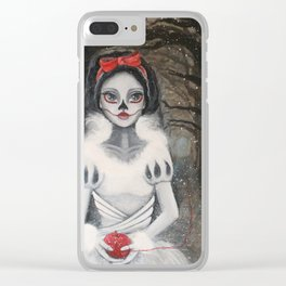 """Skin as white as snow . . ."" Clear iPhone Case"