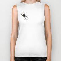 spider Biker Tanks featuring Spider! by Leanne Engel