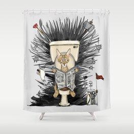 Iron toilet Shower Curtain