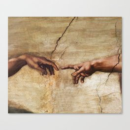 The Creation of Adam by Michelangelo Canvas Print