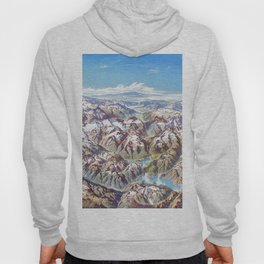 Sky Panorama Map of North Cascade National Park Hoody