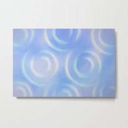 Blue Swirlies Metal Print