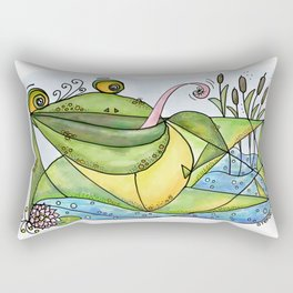 Frog with curls – Lockenfrosch Rectangular Pillow
