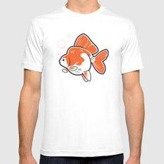 Ryukin Goldfish White MEDIUM Mens Fitted Tee