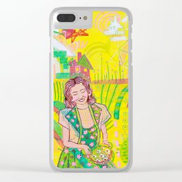 Valerie in Bliss Clear iPhone Case