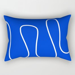 Blue Abstract Wave Rectangular Pillow