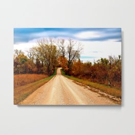 The Road to Indian Hill Metal Print