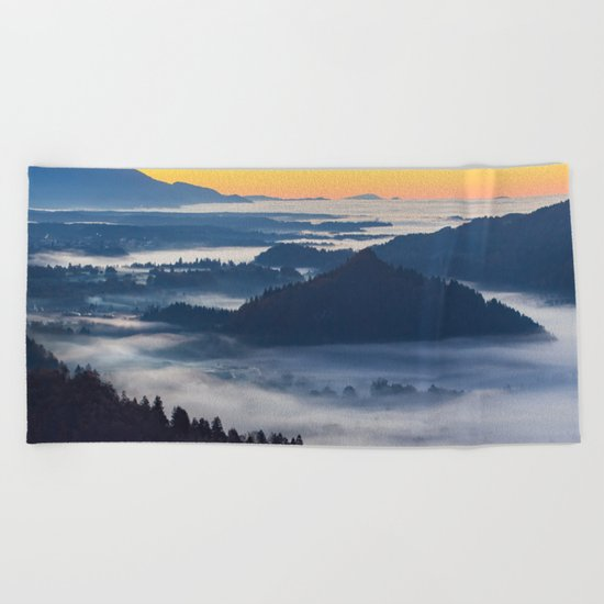 Sunset Valley #landscape #photography #society6 Beach Towel