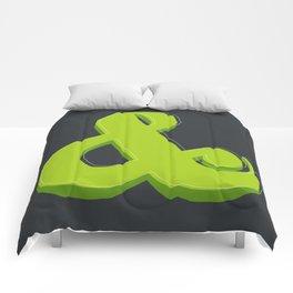 Green Ampersand Comforters
