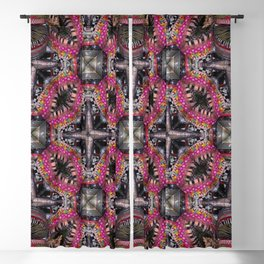 NUMBER 316 red orange green multicolored pink Blackout Curtain