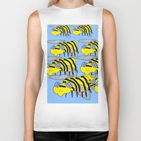 bees Biker Tanks featuring Bees by David Abse