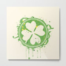 Patrick's clover Metal Print