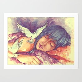 The nicest thing for me is sleep, then at least I can dream. Art Print
