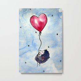 Little hedgehog dreams Metal Print