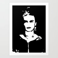 frida khalo Art Prints featuring Frida by ISHTAR