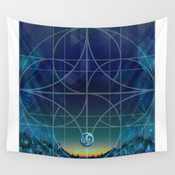 dawn training grid Wall Tapestry