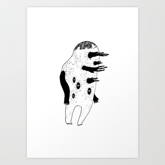 GRUFF MONSTER Art Print