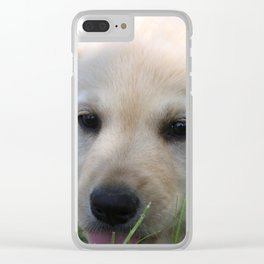 Yellow Lab Clear iPhone Case