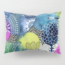 Indigo Blooms Pillow Sham