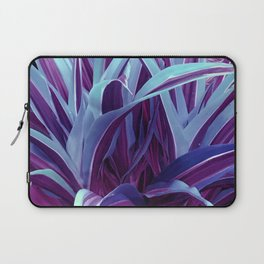 Exotic, Lush Purple and Sky-Blue Leaves Laptop Sleeve