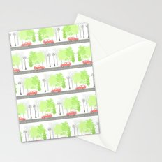 Cars and trees Stationery Cards