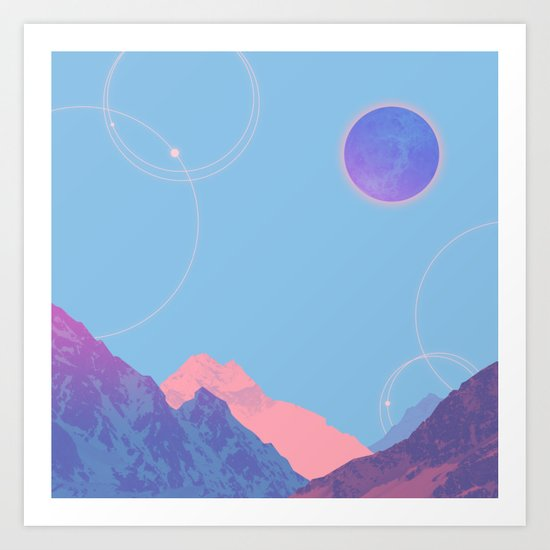 snow mountain Art Print