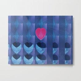 Fractal Art- Heart Art- Pink Heart- Blue Heart-U Know It- Childrens Art-Love Metal Print