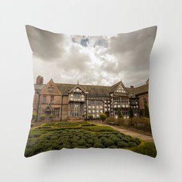 Cloudy Spring Day in an Old English Yard Throw Pillow