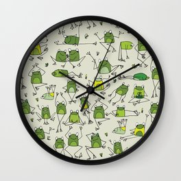 Funny Frogs Wall Clock
