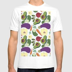 vegetables Mens Fitted Tee MEDIUM White